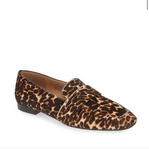 Halogen Lucy Genuine Calf Hair Loafer Leopard 8
